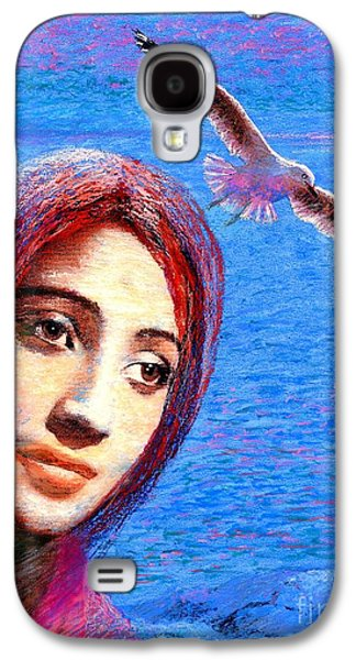 Angel Mermaids Ocean Galaxy S4 Cases - Call of the Deep Galaxy S4 Case by Jane Small