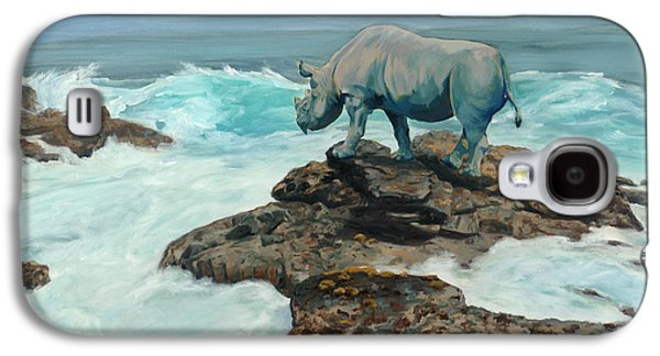 Rhinoceros Paintings Galaxy S4 Cases - Call the Ships to Port Galaxy S4 Case by Sarah Soward