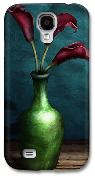 Botanical Galaxy S4 Cases - Calla Lilies I Galaxy S4 Case by April Moen