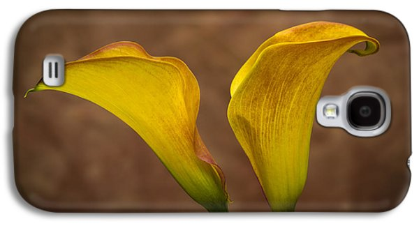 Orange Photographs Galaxy S4 Cases - Calla Lilies Galaxy S4 Case by Sebastian Musial