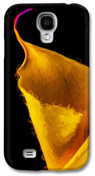 Calla Lilly Galaxy S4 Cases - Calla Lily Flower Painted Digitally Galaxy S4 Case by David Haskett