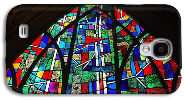 Callaway Gardens Chapel Stained Glass Galaxy S4 Case by Roe Rader