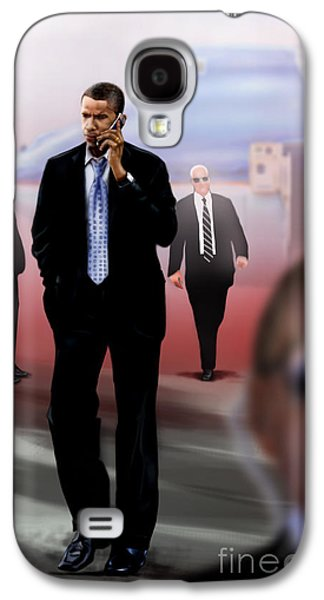 President Barack Obama Galaxy S4 Cases - Calling In Hit Markers-Smooth Operator 1 Galaxy S4 Case by Reggie Duffie