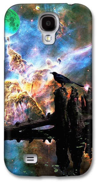 Dreamscape Galaxy S4 Cases - Calling The Night - Crow Art By Sharon Cummings Galaxy S4 Case by Sharon Cummings