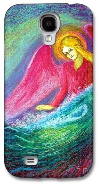 Light Galaxy S4 Cases - Calming Angel Galaxy S4 Case by Jane Small