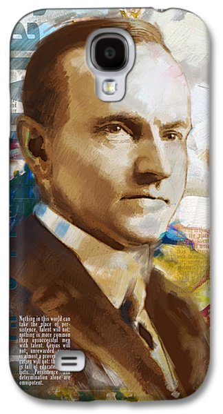 James Buchanan Galaxy S4 Cases - Calvin Coolidge Galaxy S4 Case by Corporate Art Task Force