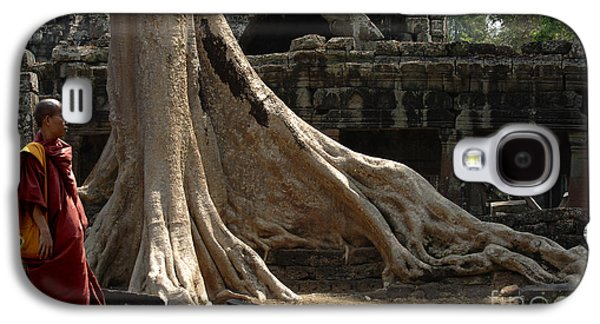 Buddhist Monk Galaxy S4 Cases - Cambodia Angkor Wat 6 Galaxy S4 Case by Bob Christopher
