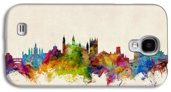 Great Britain Galaxy S4 Cases - Cambridge England Skyline Galaxy S4 Case by Michael Tompsett