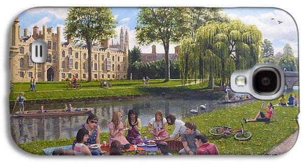 Cambridge Paintings Galaxy S4 Cases - Cambridge Summer Galaxy S4 Case by Richard Harpum