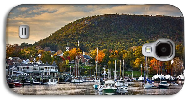 Maine Mountains Galaxy S4 Cases - Camden Harbor in the Fall Galaxy S4 Case by Benjamin Williamson