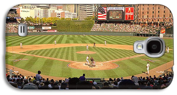 Sports Photographs Galaxy S4 Cases - Camden Yards Baseball Game Baltimore Galaxy S4 Case by Panoramic Images