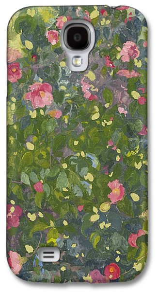 Camellia Galaxy S4 Cases - Camellia in Flower Galaxy S4 Case by Leigh Glover