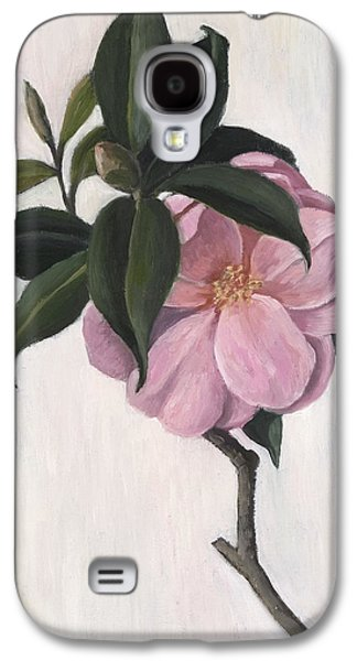 Flora Drawings Galaxy S4 Cases - Camellia Galaxy S4 Case by Ruth Addinall