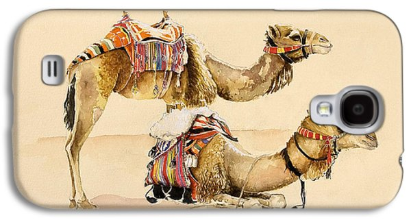 Camels From Petra Galaxy S4 Case by Alison Cooper