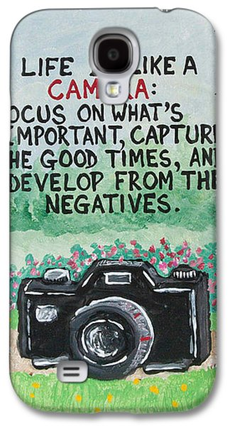 What Is Life? Mixed Media Galaxy S4 Cases - Camera Quote Galaxy S4 Case by Joe Kopler