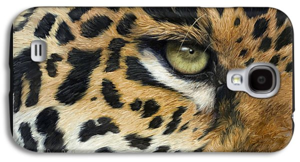 Close Up Paintings Galaxy S4 Cases - Camouflage Galaxy S4 Case by Lucie Bilodeau