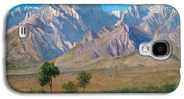 Patriotism Paintings Galaxy S4 Cases - Camp Independence Colorado Galaxy S4 Case by Albert Bierstadt