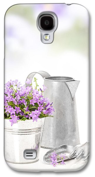 Water Jug Galaxy S4 Cases - Campanula Flowers Galaxy S4 Case by Amanda And Christopher Elwell