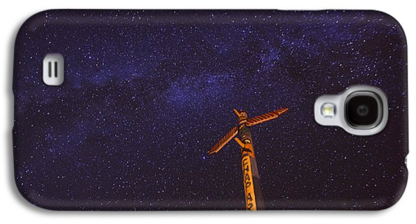Mystical Landscape Galaxy S4 Cases - Campfire Totem Galaxy S4 Case by Aaron S Bedell