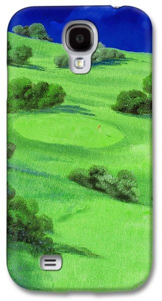 Flag Paintings Galaxy S4 Cases - Campo Da Golf Di Notte Galaxy S4 Case by Guido Borelli
