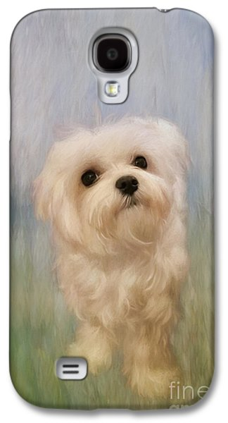Best Sellers -  - Puppies Digital Art Galaxy S4 Cases - Can We Play Now Galaxy S4 Case by Lois Bryan