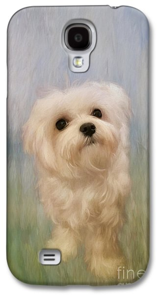 Best Sellers -  - Puppy Digital Art Galaxy S4 Cases - Can We Play Now Galaxy S4 Case by Lois Bryan