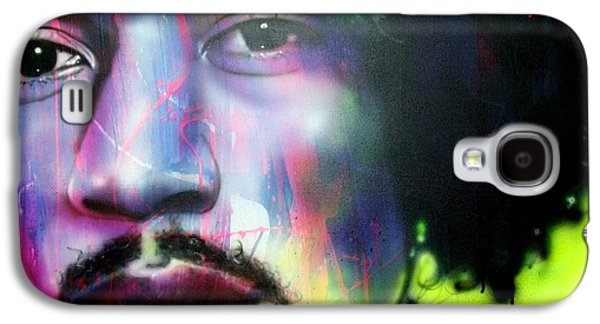 Jimi Hendrix Galaxy S4 Cases - Can You Hear Me Galaxy S4 Case by Christian Chapman Art