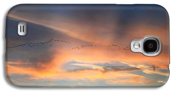 Canada Goose Flock Sunset Galaxy S4 Case by John Burk