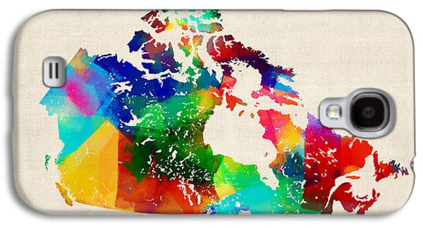 Quebec Galaxy S4 Cases - Canada Rolled Paint Map Galaxy S4 Case by Michael Tompsett