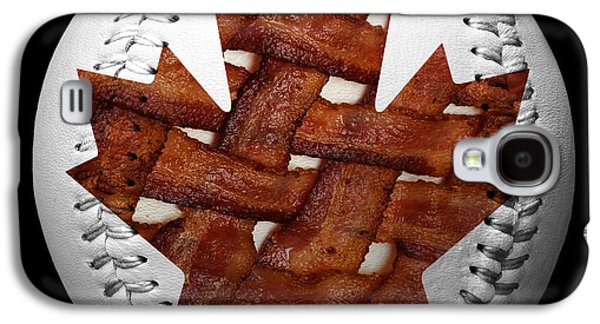 Basket Ball Game Galaxy S4 Cases - Canadian Bacon Lovers Baseball Square Galaxy S4 Case by Andee Design