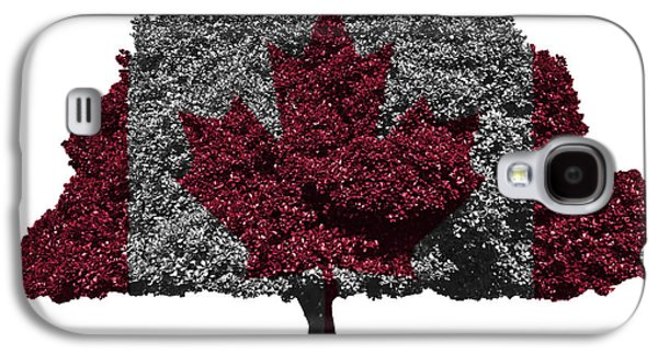 Republican Mixed Media Galaxy S4 Cases - Canadian flag on isolated tree Galaxy S4 Case by Image World