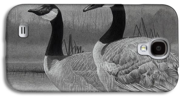 Graphite Galaxy S4 Cases - Canadian Geese Galaxy S4 Case by Tim Dangaran