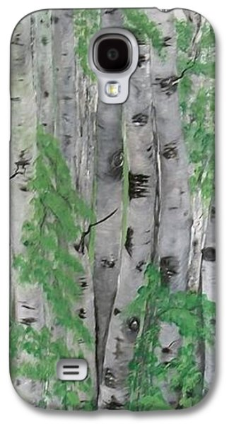 Landscape Acrylic Prints Galaxy S4 Cases - Canadian White  Poplar Galaxy S4 Case by Sharon Duguay