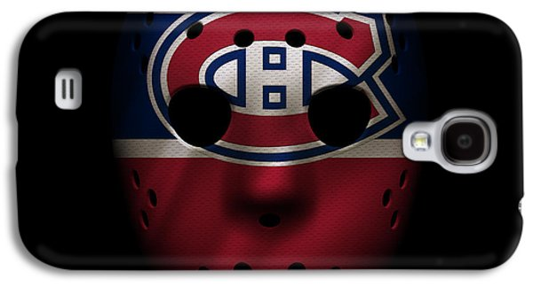 Montreal Canadiens Galaxy S4 Cases - Canadiens Jersey Mask Galaxy S4 Case by Joe Hamilton