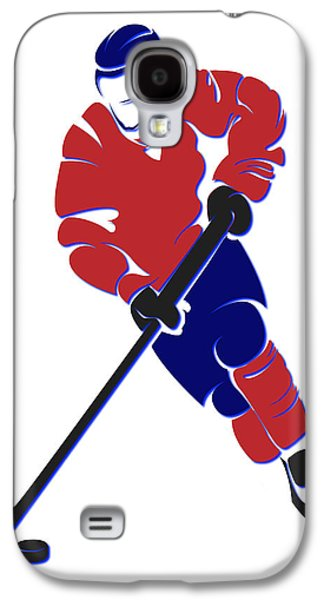 Montreal Canadiens Galaxy S4 Cases - Canadiens Shadow Player Galaxy S4 Case by Joe Hamilton