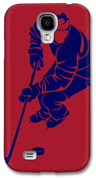 Montreal Canadiens Galaxy S4 Cases - Canadiens Shadow Player3 Galaxy S4 Case by Joe Hamilton