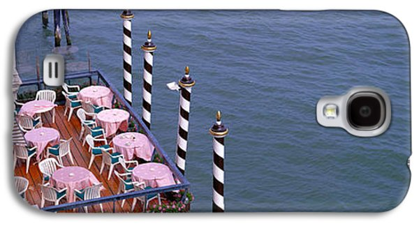 Overhang Photographs Galaxy S4 Cases - Canal Side Cafe Venice Italy Galaxy S4 Case by Panoramic Images