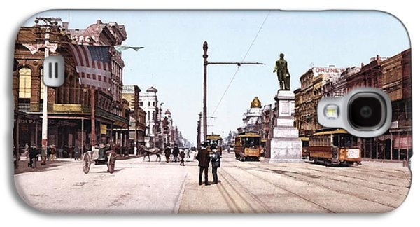 Horse And Cart Digital Galaxy S4 Cases - Canal Street New Orleans 1900 Galaxy S4 Case by Unknown
