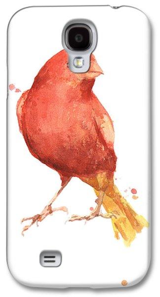 Canary Bird Galaxy S4 Case by Alison Fennell