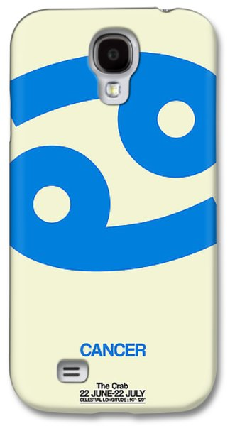 Virgo Galaxy S4 Cases - Cancer Zodiac Sign Blue Galaxy S4 Case by Naxart Studio