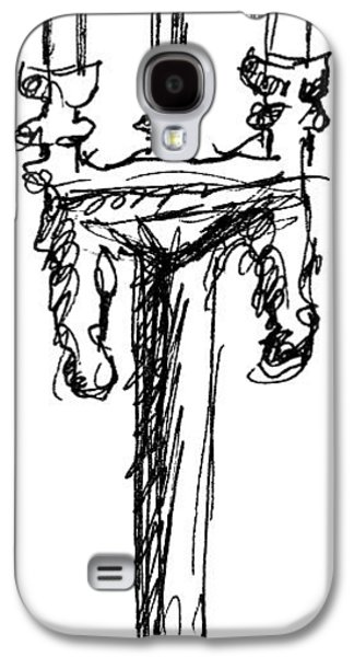 Candle Stand Galaxy S4 Cases - Candelabrum Sketch Galaxy S4 Case by J M Lister