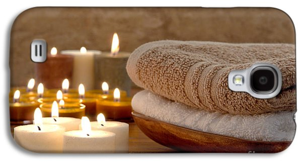 Treatment Galaxy S4 Cases - Candles and Towels in a Spa Galaxy S4 Case by Olivier Le Queinec