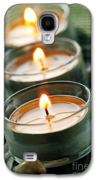 Candles On Green Galaxy S4 Case by Elena Elisseeva