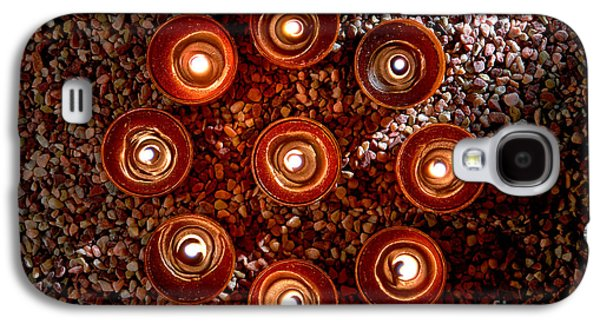 Meditative Photographs Galaxy S4 Cases - Candles Spiritual Circle Galaxy S4 Case by Olivier Le Queinec