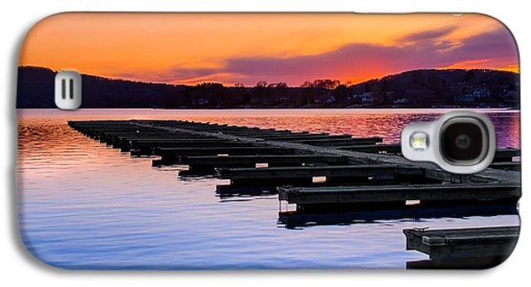 Connecticut Landscape Galaxy S4 Cases - Candlewood Lake Galaxy S4 Case by Bill  Wakeley