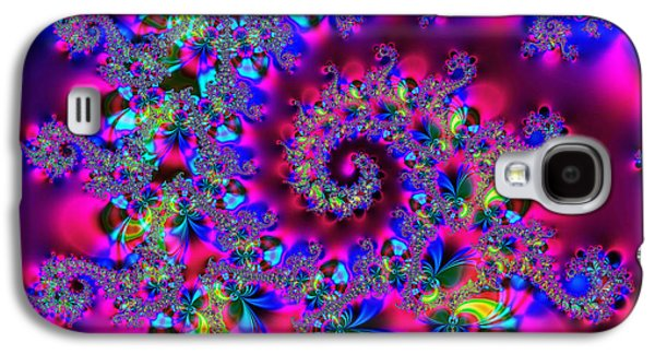 Algorithmic Abstract Galaxy S4 Cases - Candy Swirl Galaxy S4 Case by Ian Mitchell