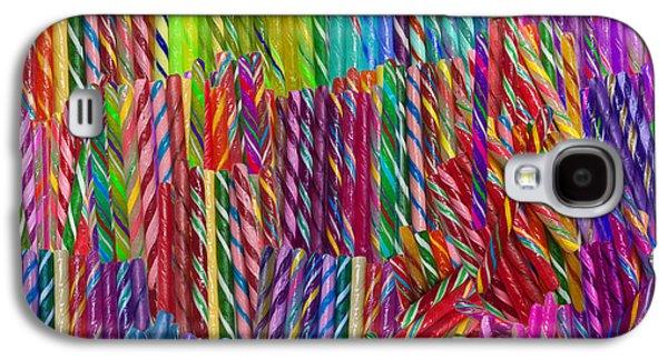 Alixandra Mullins Galaxy S4 Cases - Candy Twists Galaxy S4 Case by Alixandra Mullins