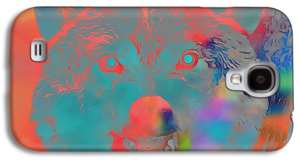 Wolves Digital Galaxy S4 Cases - Canis Lupus Galaxy S4 Case by Dan Sproul