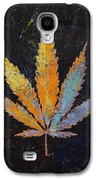 Trippy Paintings Galaxy S4 Cases - Cannabis Galaxy S4 Case by Michael Creese