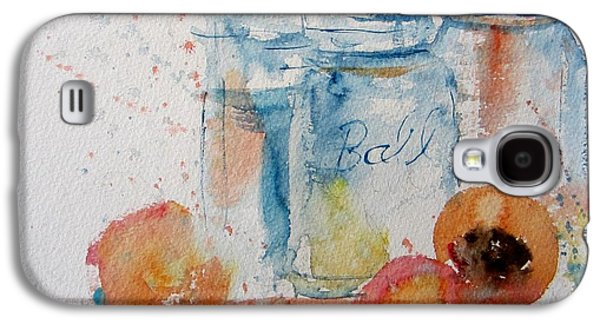 Water Jars Paintings Galaxy S4 Cases - Canning Peaches Galaxy S4 Case by Sandra Strohschein